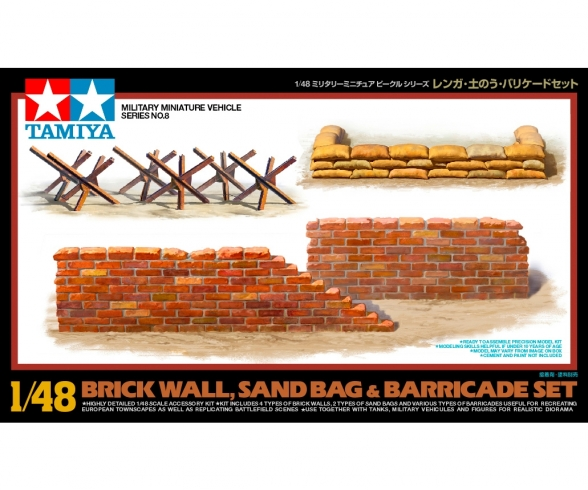1:48 WWII Diorama-Set Brick Wall&Sandbag