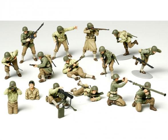1:48 US Figure-Set Infantry GI Set