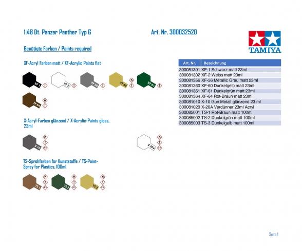 1:48 Ger. Battle Tank Panther Type G