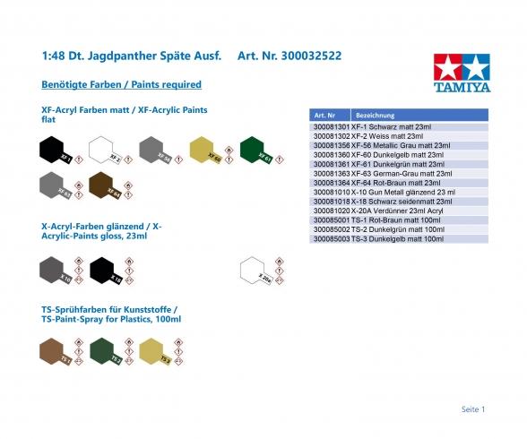 1:48 WWII Ger.Tank Destr. Jagdpanther L.
