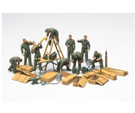 1:48 WWII Diorama-Set Field Maintenace