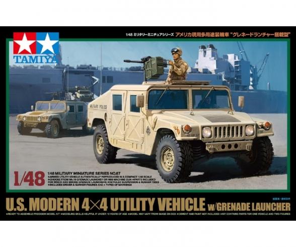 1:48 US Modern 4x4 Utili.Veh.4x4 w/Gren.