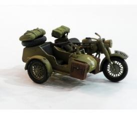 1:48 WWII German Motorcycle&Sidecar (2)