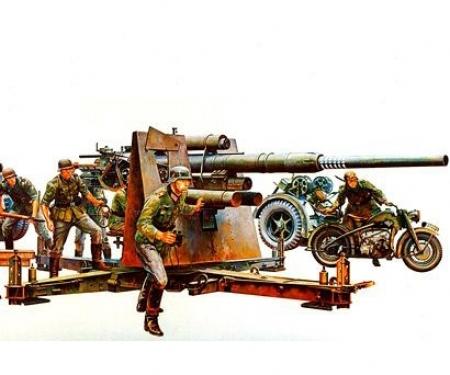 1:35 WWII Dt. Flak 8,8 m.Motorrad (9)