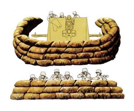 1:35 WWII Diorama-Set Sandsäcke (36+12)