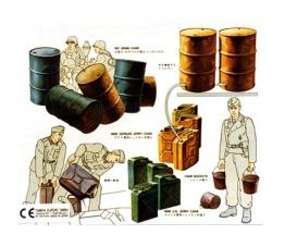 1:35 WWII Dior.-Set US/Dt.Kanister&Fäss.