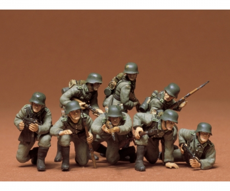 1:35 WWII Fig.-Set Ger.Tank Grenadie.(8)
