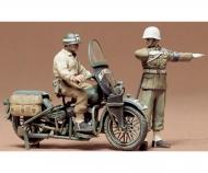 1:35 WWII US Militär Polizei Motorrad(2)