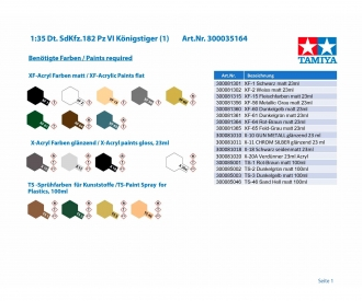 1:35 Dt. SdKfz.182 Pz VI Königstiger (1)