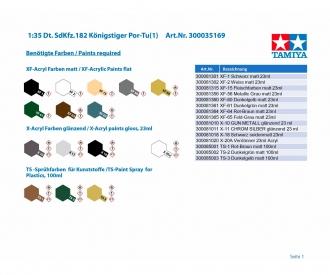 1:35 Dt. SdKfz.182 Königstiger Por-Tu(1)