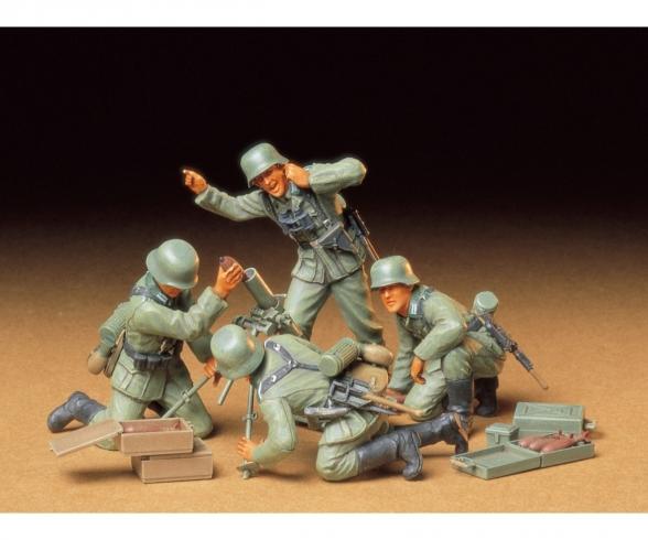 1:35 WWII Fig.-Set Ger.Mortar-Troop (4)