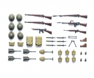 1:35 Diorama-Set WWII US Infant. Weapons
