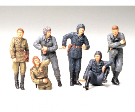 1:35 WWII Fig-Set Sov.Tank Crew Rest(6)