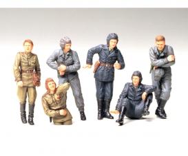 1:35 WWII Fig-Set Sov.Tank Crew Rest(6)