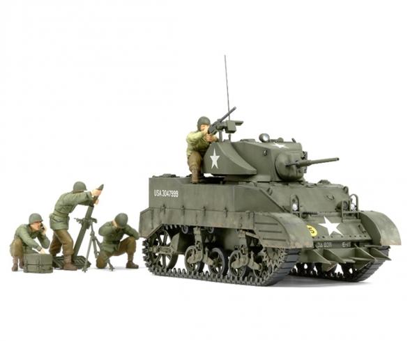 1:35 US M5A1 Light Tank w/Mortar (4)