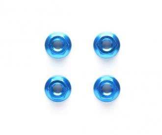 TRF 4mm/M4 Al.Serrated Nut Blue anod.(4)