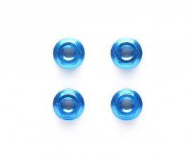 TRF 4mm/M4 Al.Serrated Nut Blue anod.(4)