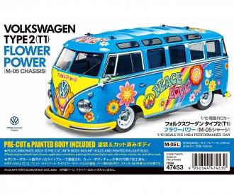 1:10 RC VW Bus Type 2 T1  Flower Power