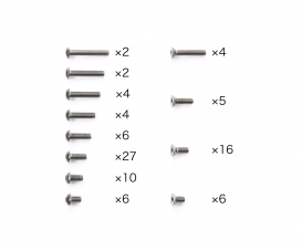 TA08 PRO Titanium Screw Set
