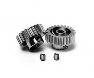 Pinion Gear-Set 24/25T Alu M0.6