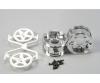 2pc.Wheels 5-Spoke Chrome/white (2) 30mm