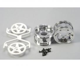 1:10 Wheels (2) 5-Spoke Chr./white 30mm
