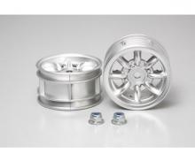 M-Chassis 8-Spoke Wheels (2) Chrome 24mm