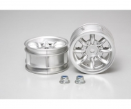 M-Chassis 8-Spoke Wheels (2) Chrome 24mm