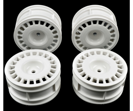 1:10 Rally Dish Wheel white (4) 26mm/+2