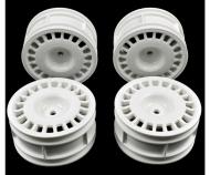 1:10 Rallye Dish Felgen weiss(4) 26mm/+2