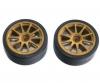 Drift Tires Type D w/Wheels gold 26mm(2)