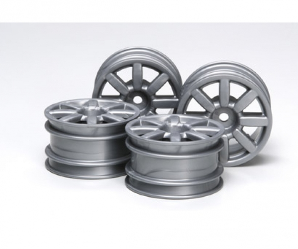 M-Chassis 8-Sp. Wheels Flat silver (4)