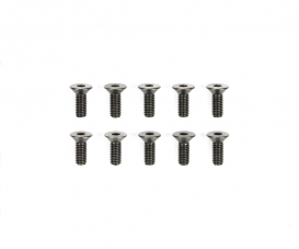 3x8mm 6-Kant-Senkk. Schraube Stahl(10)