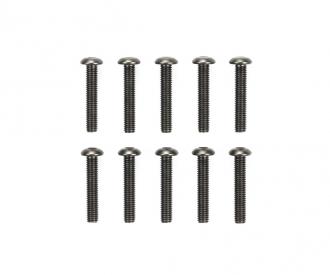 3x16mm 6-Kantkopf Schraube Stahl (10)
