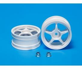 One-Piece 5-Spoke Wheel white 26mm (2)
