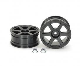 1:10 Felgen (2) 6-Speichen schwarz 24mm
