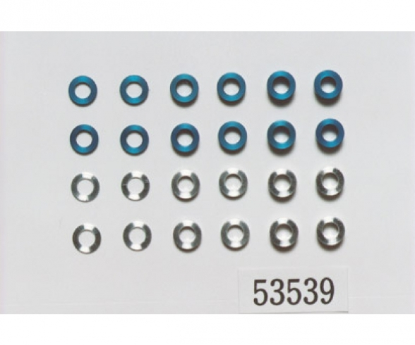 Aluminum Spacer Set 5,5/3mm blue/silver
