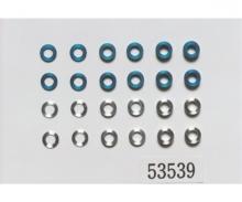 Aluminum Buchsen-Set 5,5/3mm blau/silber