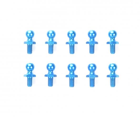Alum.Ball Connector blue 5mm