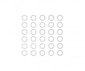 Distanzscheiben-Set 6mm (10) 0,1/0,2/0,3