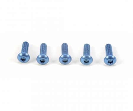 3x10mm Sockelschraube Alu blau