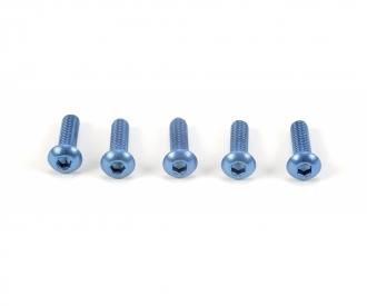 3x10mm Socket Screw / Alum. Blue (5)
