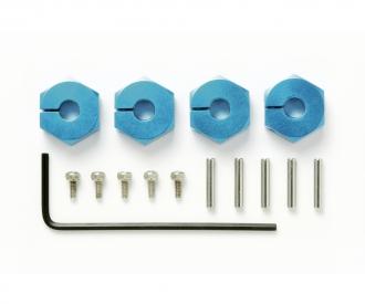 Clamp Alu Wheel Hub (4) 5mm blue