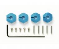 Radmitnehmer (4) Alu 5mm blau