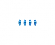 3x10mm Alum. Turnbuckle Shaft (4) Blue