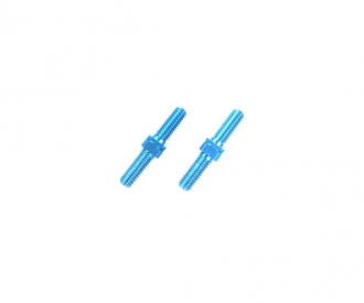 Alum. Turnbuckle Shaft 3x18mm (2) blue