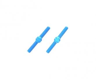 Alum. Turnbuckle Shaft 3x23mm  (2) blue
