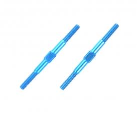 Alum. Turnbuckle Shaft 3x42mm (2) blue