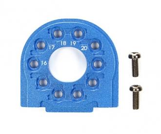 TT-02/B Alu Motorhalter Blau eloxiert