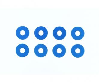 TRF Alum. Wheel Spacer 0.75 mm Blue (8)